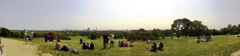 Blick auf London vom Primrose Hill