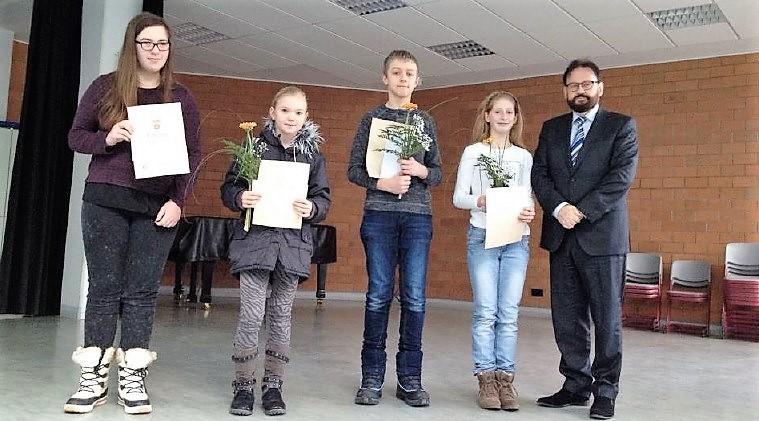Siegerehrung der 2. Stufe der 56. Mathematik-Olympiade